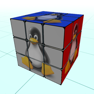 Linux logo texture
