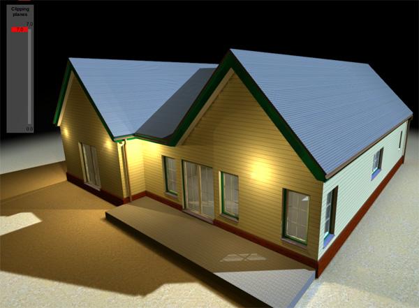 horizontal house section